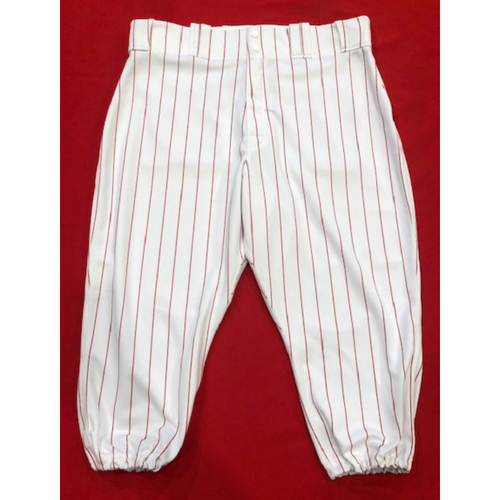 Photo of Scooter Gennett -- 1961 Throwback Pants (Starting 2B: Went 1-for-3) -- Cardinals vs. Reds on July 21, 2019 -- Pants Size 33-43-18