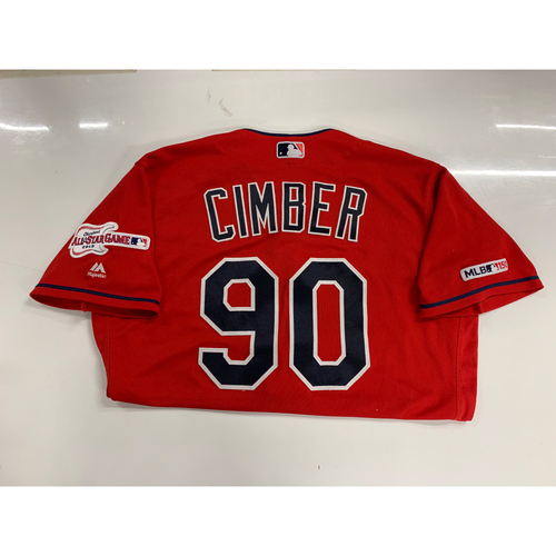 Photo of Adam Cimber Game Used Alternate Home Jersey 6/25/19