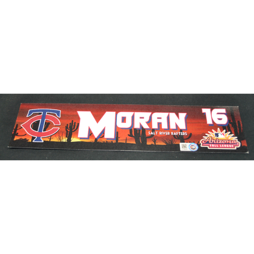 Photo of Arizona Fall League - Game-Used Locker Tag - Jovani Moran (MIN), Jersey Number: 16