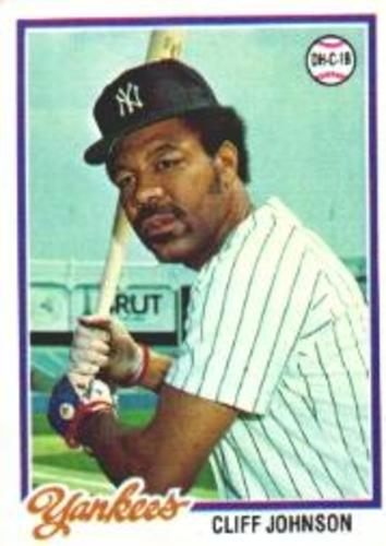 Photo of 1978 Topps #309 Cliff Johnson