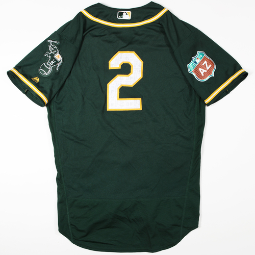 Photo of 2016 Spring Training - Spring Training Game Used Jersey - Khris Davis (Athletics)- Size- 44