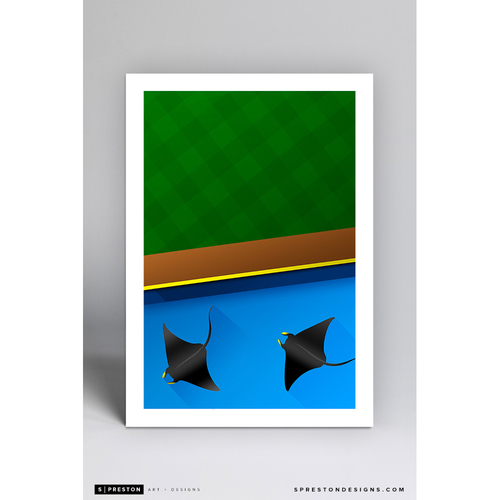 Photo of Tropicana Field - Minimalist Ballpark Art Print by S. Preston  - Tampa Bay Rays