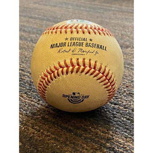 Photo of Game-Used Baseball - New York Yankees at Baltimore Orioles (7/29/2020) - Batter - DJ LeMahieu - Single