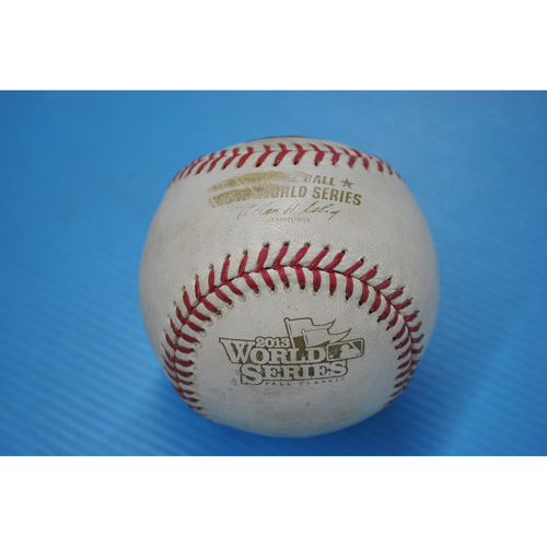 Photo of Game-Used Baseball - 2013 World Series - Game 3 - Pitcher: Jake Peavy, Batter: David Freese - Foul Ball - 4th Inning