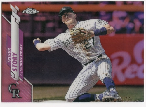 Photo of 2020 Topps Chrome Pink Refractors #59 Trevor Story