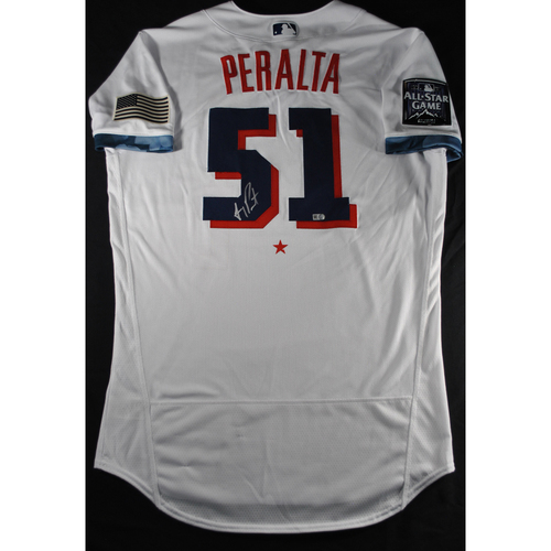 Photo of Freddy Peralta 2021 Major League Baseball All-Star Game Autographed Jersey
