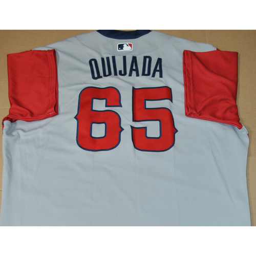 Photo of Game-used Jersey - 2021 Little League Classic - Los Angeles Angels vs. Cleveland Indians - 8/22/2021 - West, Jose Quijada #65
