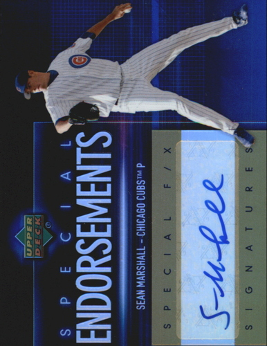 Photo of 2006 Upper Deck Special F/X Special Endorsements #SM Sean Marshall