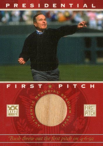 Photo of 2002 Topps American Pie First Pitch Seat Relics #GHWB George H.W. Bush