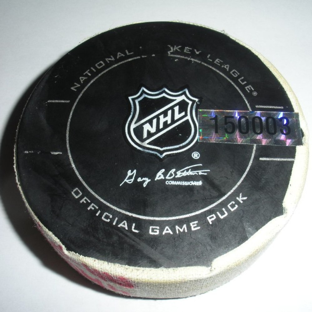 Mike Richards - Philadelphia Flyers - Goal Puck - April 9, 2010 (Rangers Logo)