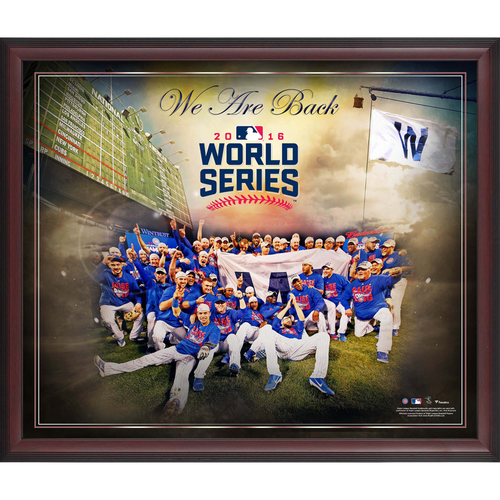 "Photo of Chicago Cubs Framed 2016 MLB National League Champions 20"" x 24"" World Series Bound Collage"