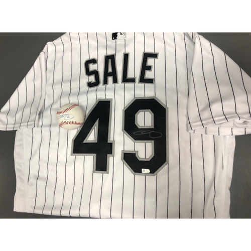 Photo of Chris Sale Autographed Jersey and Baseball
