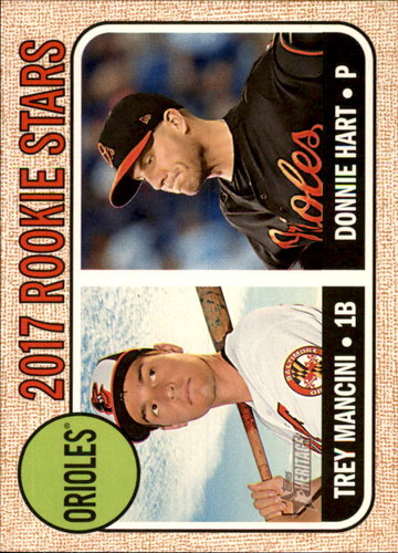 Photo of 2017 Topps Heritage #396 Donnie Hart RC/Trey Mancini RC