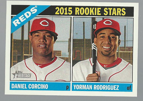 Photo of 2015 Topps Heritage #311 Daniel Corcino RC/Yorman Rodriguez RC