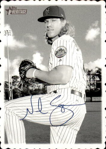 Photo of 2018 Topps Heritage High Number '69 Topps Deckle Edge #10 Noah Syndergaard