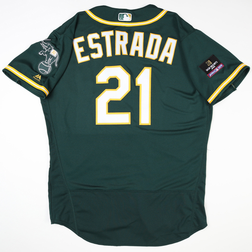 Photo of 2019 Japan Opening Day Series - Game Used Jersey - Marco Estrada, Oakland Athletics at Nippon Ham Fighters -3/17/2019
