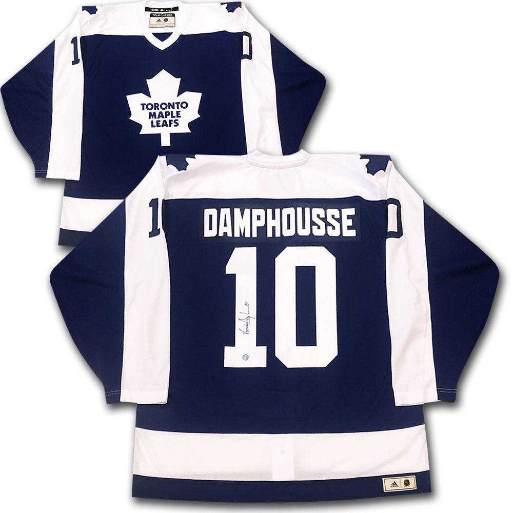 Vincent Damphousse Autographed Toronto Maple Leafs adidas Team Classics Authentic Vintage Jersey