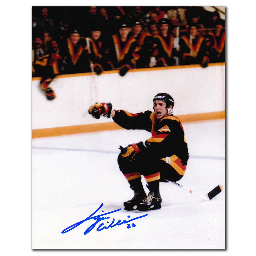 Tiger Williams Vancouver Canucks CELEBRATION Autographed 8x10