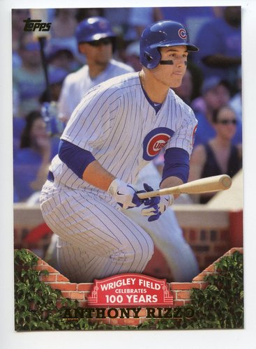 Photo of 2016 Topps 100 Years at Wrigley Field #WRIG29 Anthony Rizzo