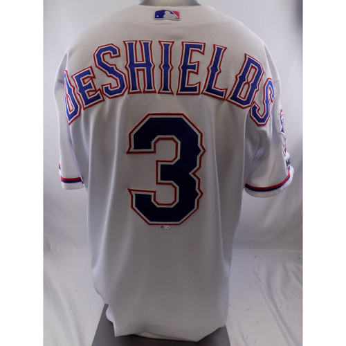 Photo of White Team-Issued Jersey - Delino DeShields - 10/8/19