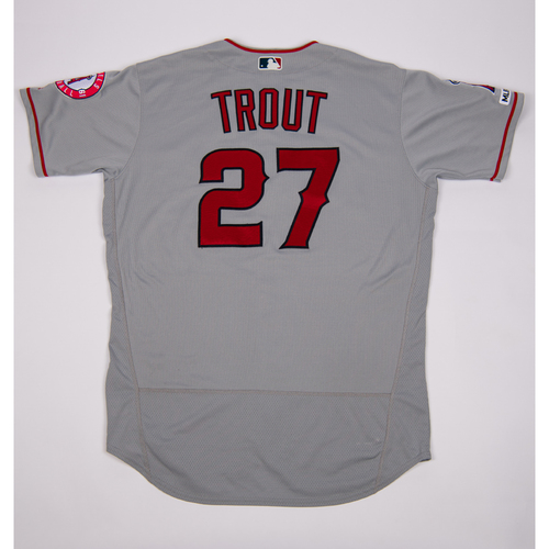 Photo of Mike Trout Game-Used 2019 Opening Day Jersey (3/28/19)