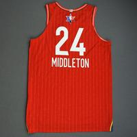 Khris Middleton - 2020 NBA All-Star - Game-Worn Jersey Charity Auction - Team Giannis - 1st and 2nd Quarter