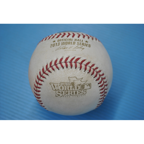 Photo of Game-Used Baseball - 2013 World Series - Game 6 - Pitcher: Michael Wacha, Batter: Dustin Pedroia - Foul Ball - 4th Inning