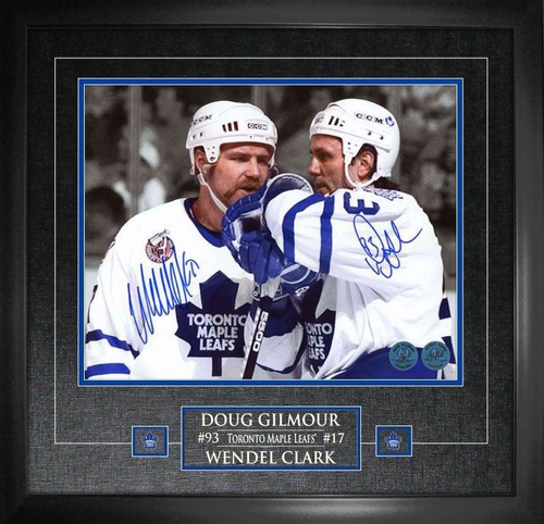 16x20 Wendel Clark/ Doug Gilmour Duo Signed Photo Framed