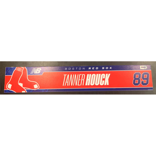 Photo of Tanner Houck August 26, 2021 Game Used Locker Tag