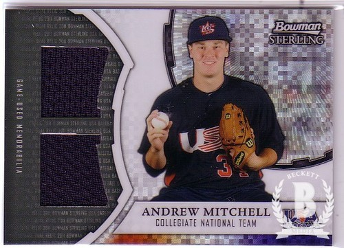 Photo of 2011 Bowman Sterling USA Baseball Dual Relic X-Fractors #AM Andrew Mitchell