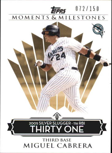 Photo of 2008 Topps Moments and Milestones #138-31 Miguel Cabrera