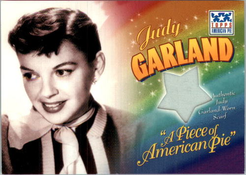 Photo of 2002 Topps American Pie Piece of American Pie #JD Judy Garland Scarf