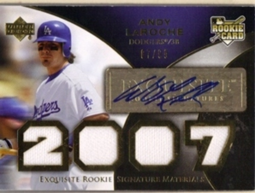 Photo of 2007 Exquisite Collection Rookie Signatures Gold #191 Andy LaRoche Jsy AU/99