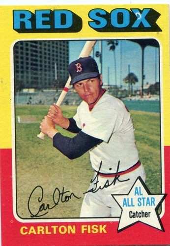 Photo of 1975 Topps #80 Carlton Fisk -- Hall of Famer