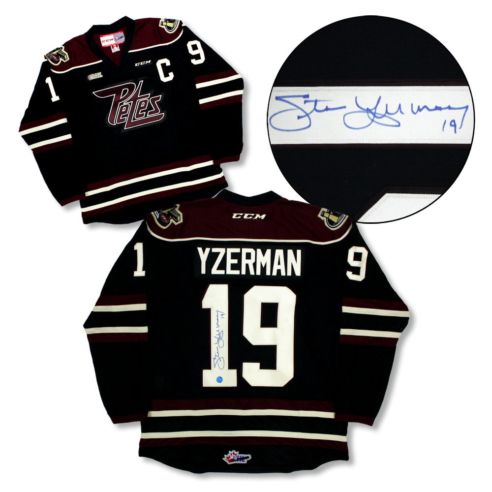 Steve Yzerman Peterborough Petes Autographed CHL CCM Hockey Jersey *Detroit Red Wings*