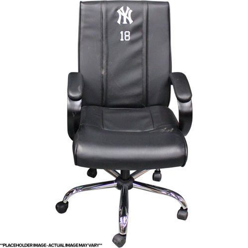Photo of Aaron Hicks New York Yankees 2017 Game-Used # 31 Clubhouse Chair