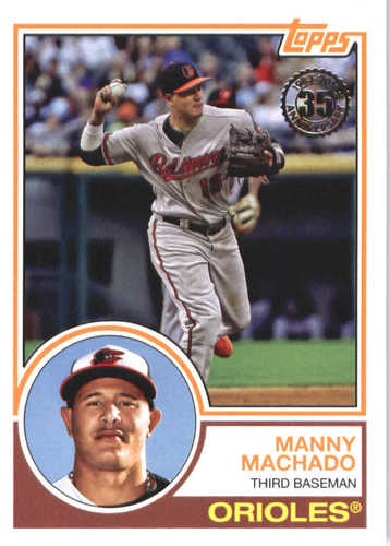 Photo of 2018 Topps '83 Topps #8332 Manny Machado