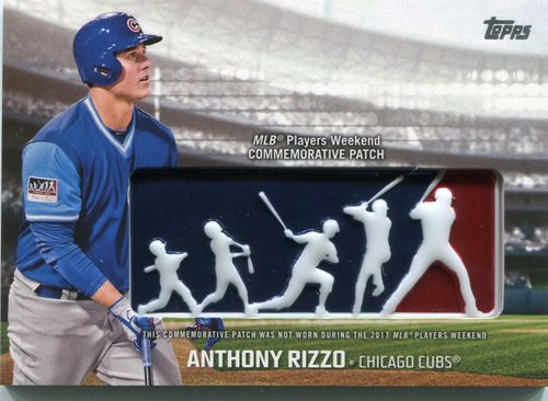 Photo of 2018 Topps Players Weekend Patches #PWPARI Anthony Rizzo
