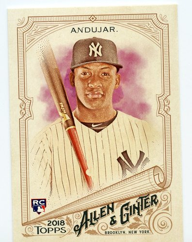Photo of 2018 Topps Allen and Ginter #201 Miguel Andujar RC