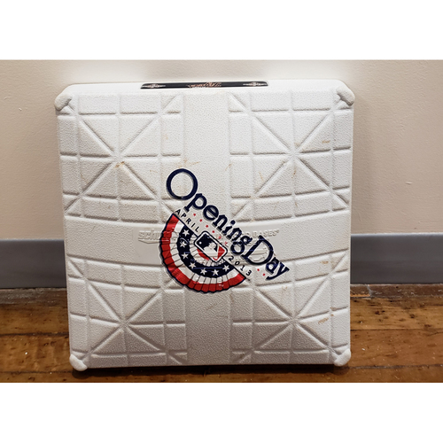Photo of Game-Used Opening Day Base: New York Yankees at Detroit Tigers - 2nd Base Used in Innings 8-9 - 4/5/13