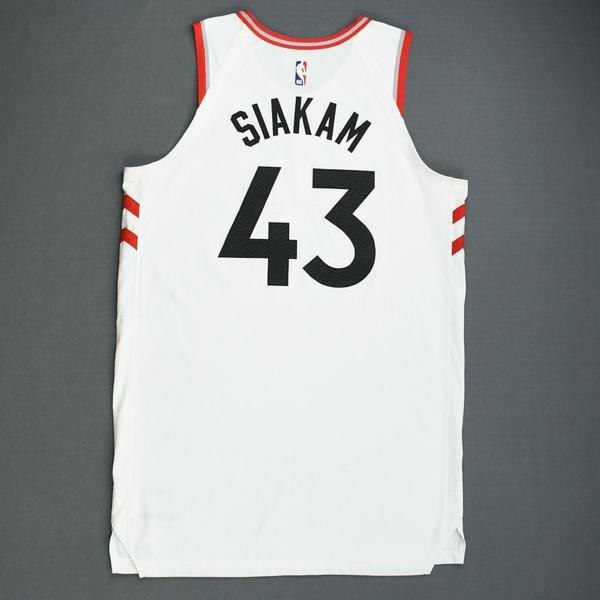 389a0832076 Pascal Siakam - Toronto Raptors - Game-Worn Association Edition ...