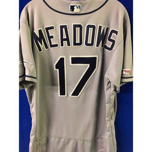 Game Used 2-HOME RUN Road Jersey: Austin Meadows - April 12, 2019 at TOR
