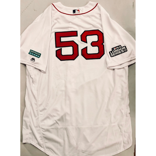 2019 London Series - Game-Used Jersey - Craig Bjornson, New York Yankees vs Boston Red Sox - 6/29/19