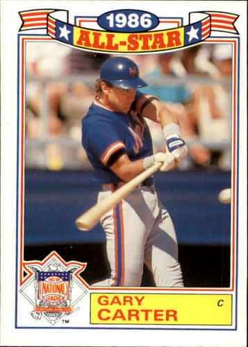Photo of 1987 Topps Glossy All-Stars #9 Gary Carter
