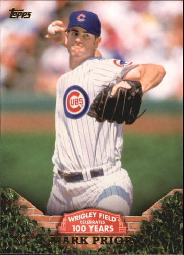 Photo of 2016 Topps 100 Years at Wrigley Field #WRIG30 Mark Prior