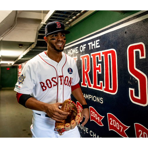 Photo of Red Sox Foundation Jackie Robinson Day - Xander Bogaerts Game-Used and Autographed Jersey