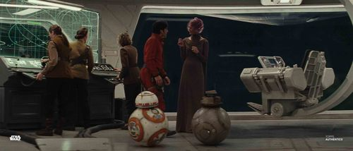 Poe Dameron and Vice Admiral Holdo