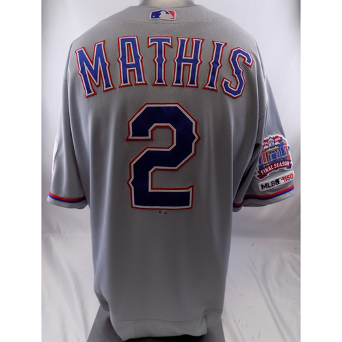 Photo of Grey Team-Issued Jersey - Jeff Mathis - 10/8/19