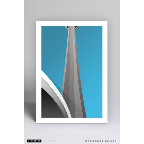 Photo of Rogers Centre - Minimalist Ballpark Art Print by S. Preston  - Toronto Blue Jays
