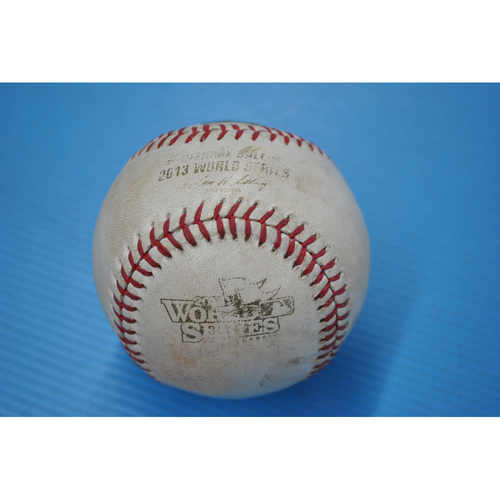 Photo of Game-Used Baseball - 2013 World Series - Game 1 - Pitcher: Carlos Martinez, Batter: Xander Bogaerts - Wild Pitch - 8th Inning